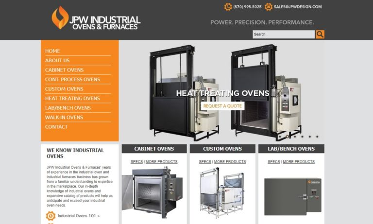 JPW Industrial Ovens & Furnaces