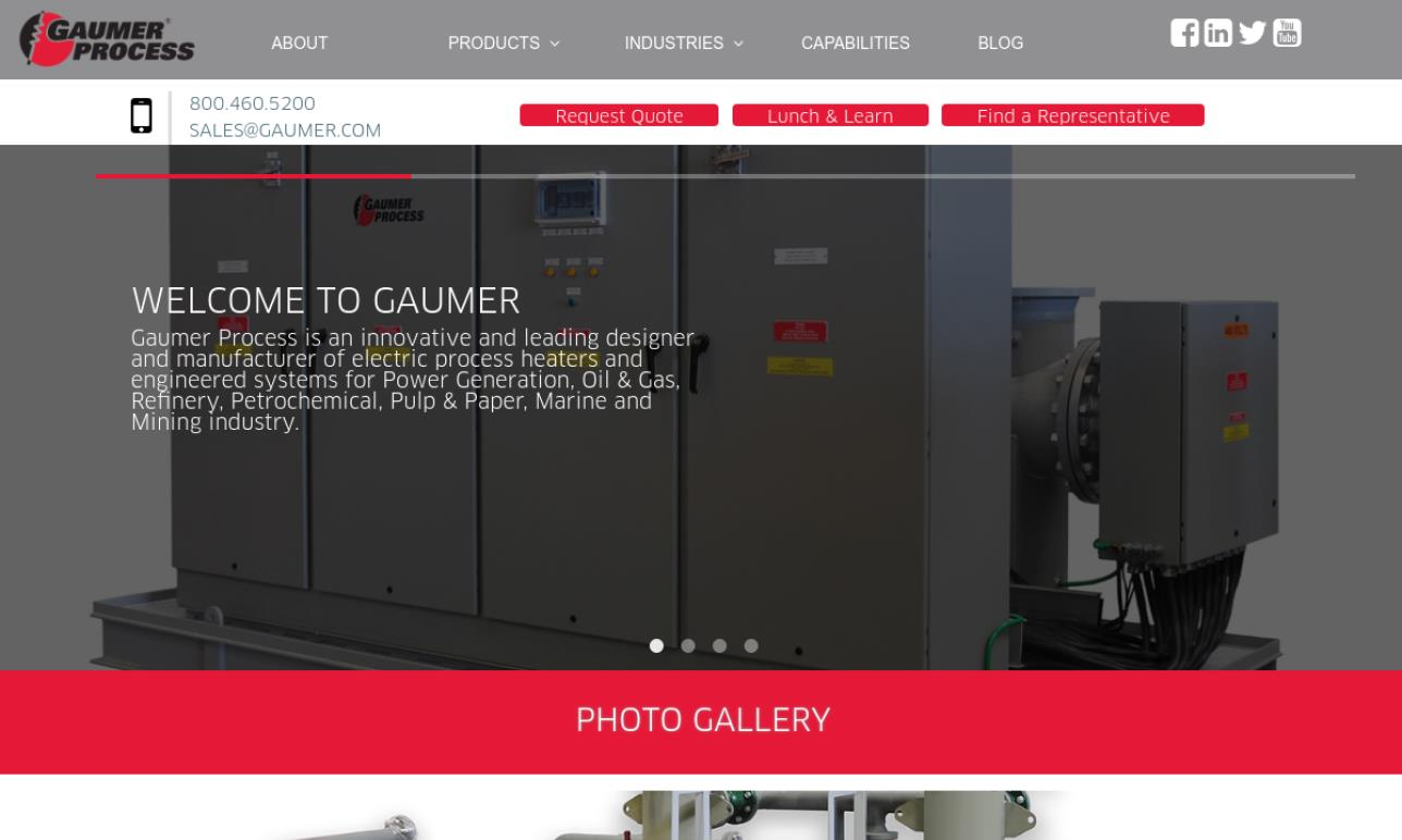 Gaumer Process Heaters, Systems & Controls