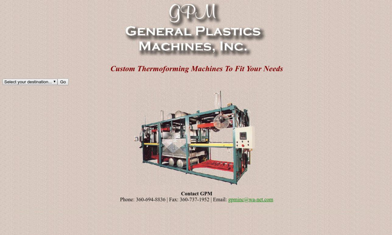 General Plastics Machine