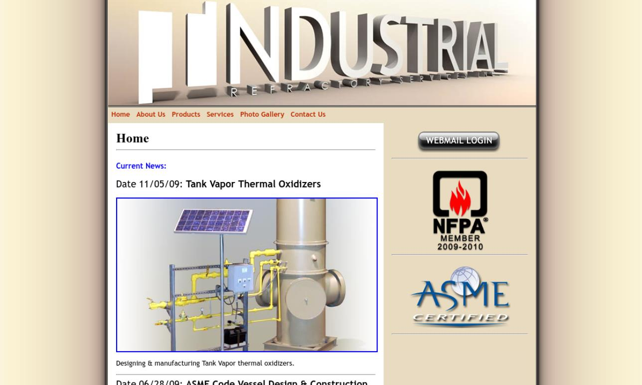 Industrial Refractory Services, Inc.