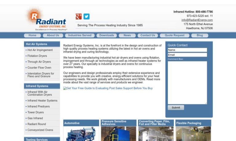 Radiant Energy Systems, Inc.